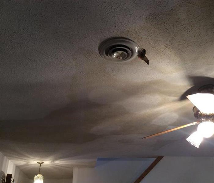 Ceiling Water Damage in Harrisonburg, VA Before