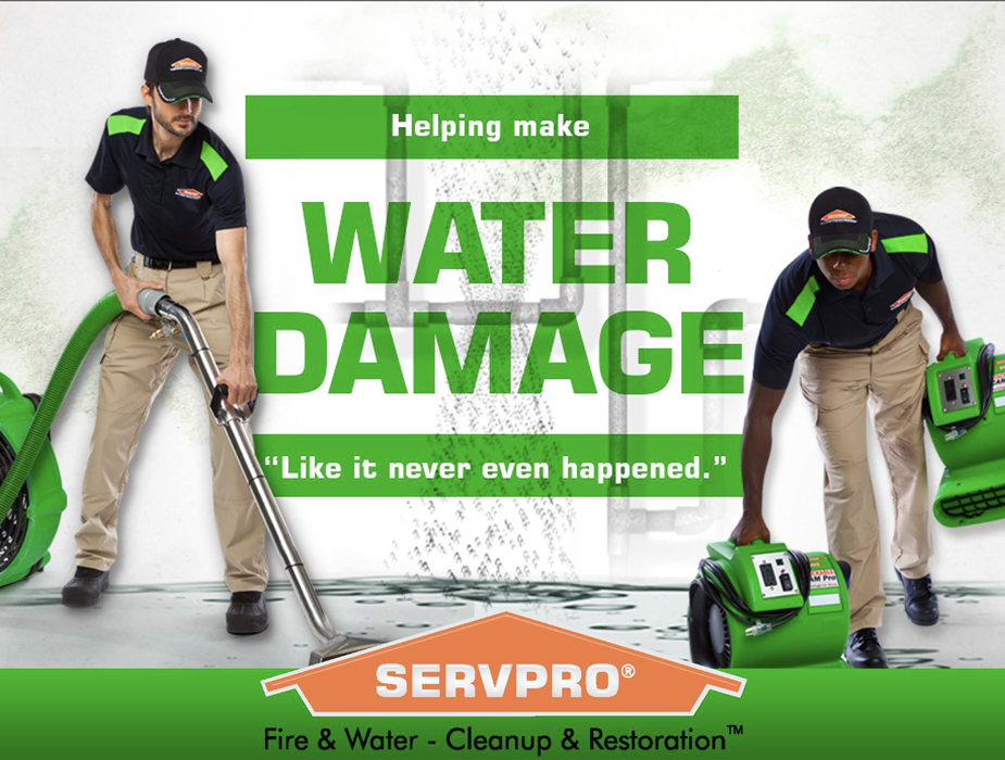 "We make water damage ""Like it never even happened."""